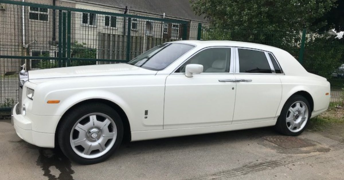 Silver Rolls Royce Phantom Hire Sheffield Nottingham Leeds